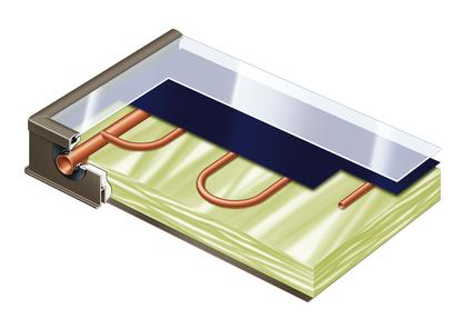 Panneau chauffe-eau solaire